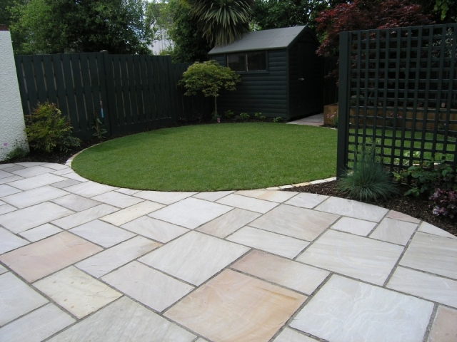 block paving patio